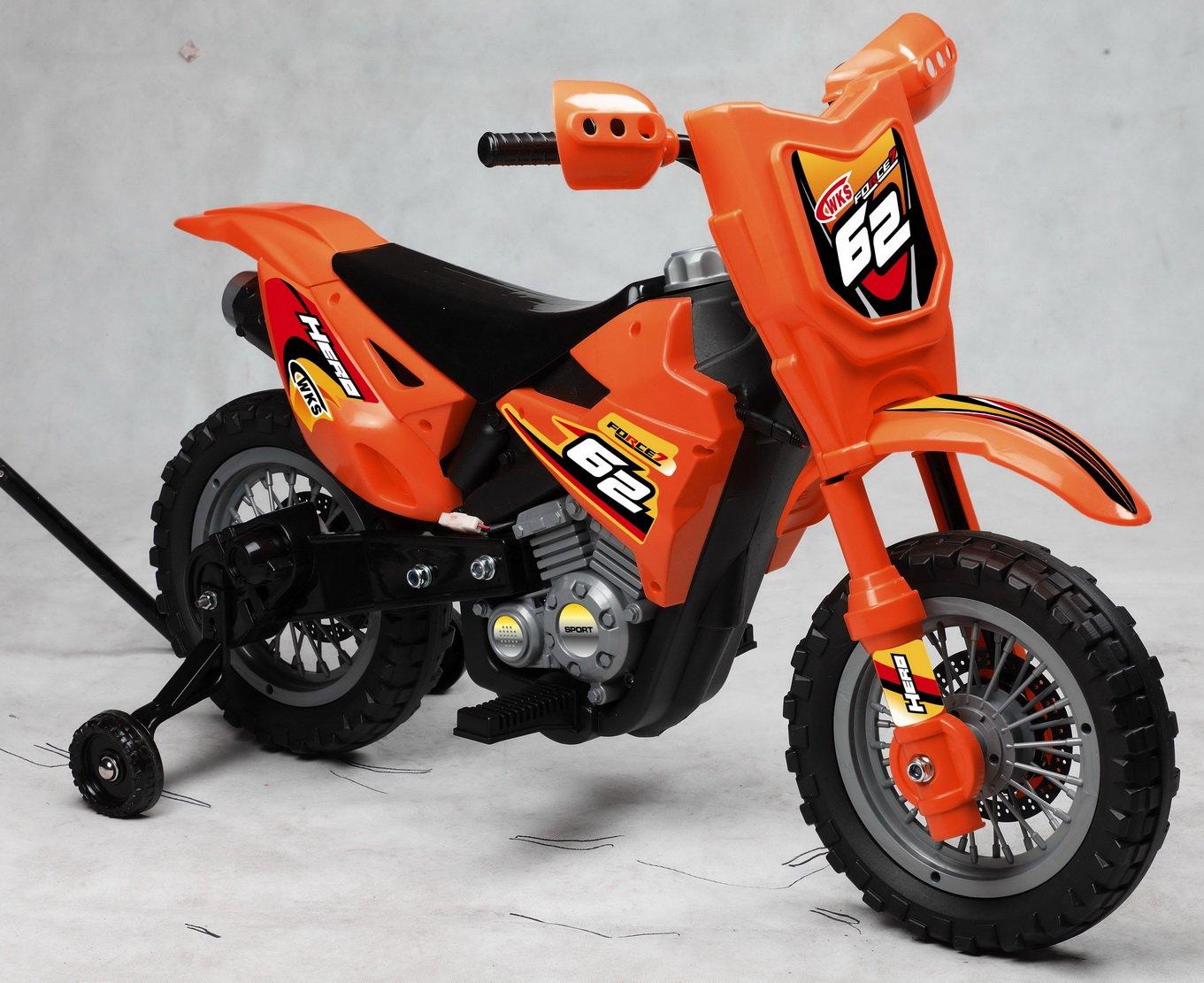 Best Ride On Cars Mini Dirt Bike Orange 6v Ride On