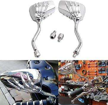 Universal Chrome 8mm Motorcycle Rearview Mirrors For Honda Suzuki Kawasaki AU