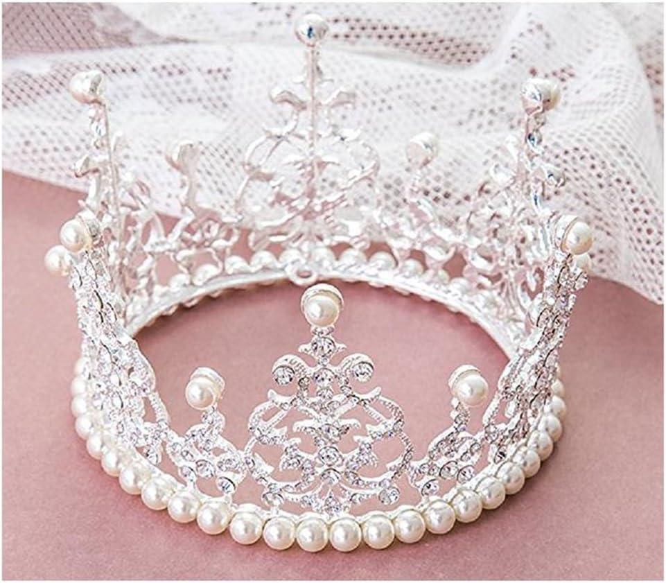 Crown Cake Topper Cristal Perle Diadème Enfants cheveux Ornements Party Supplies