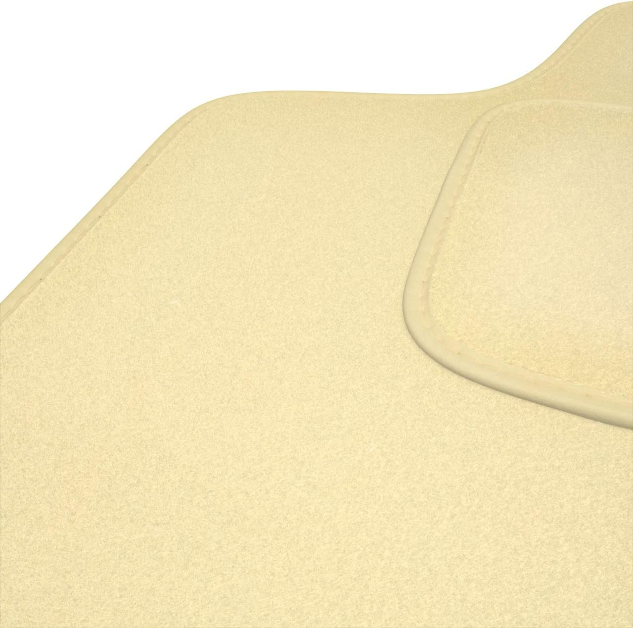 2 Piezas Mossa Premium Alfombrillas de Velour Beige 5902538781060