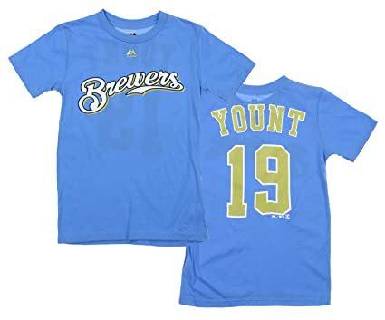 82ca4896c Image Unavailable. Image not available for. Color  Majestic MLB Milwaukee  Brewers Youth Retro ...