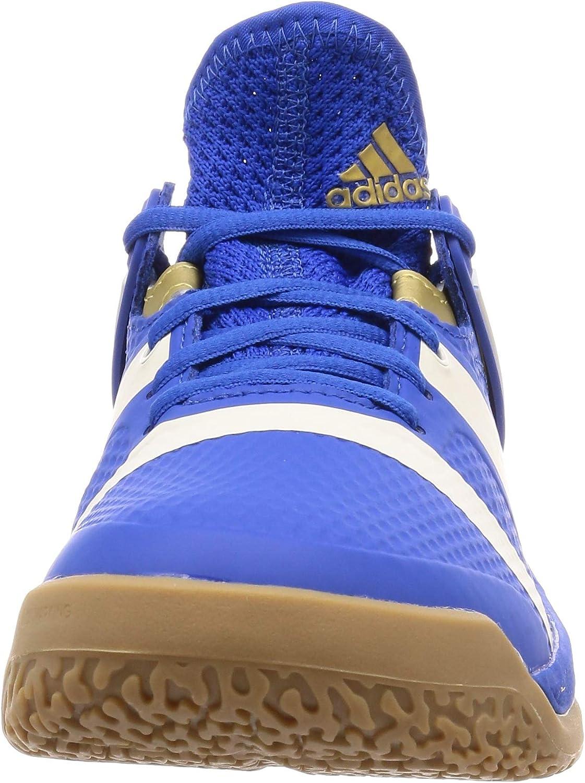 adidas Handballschuhe Stabil X bleu/blanc/or mÃtalisÃ