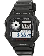 Casio Collection Herren Digitale Armbanduhr mit Armband aus Kunstharz – ae-1200wh