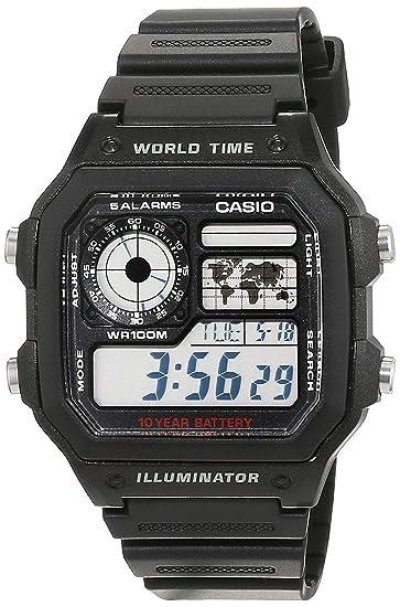 bb190757c56a Casio Reloj de Pulsera AE-1200WH-1AVEF  Amazon.es  Relojes