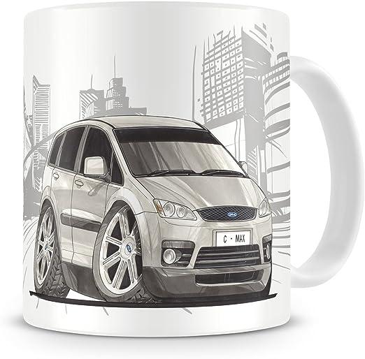 KOOLART kruzroyal caricatura de Ford Focus C-Max - Taza de café: Amazon.es: Hogar