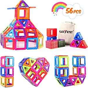 Sweepstakes: Soyee Magnetic Building Toys Construction Blocks 56pcs Magnetic…