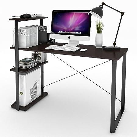 Lifewit Computer Desk PC Laptop Desk with Adjustable Bookshelf ...