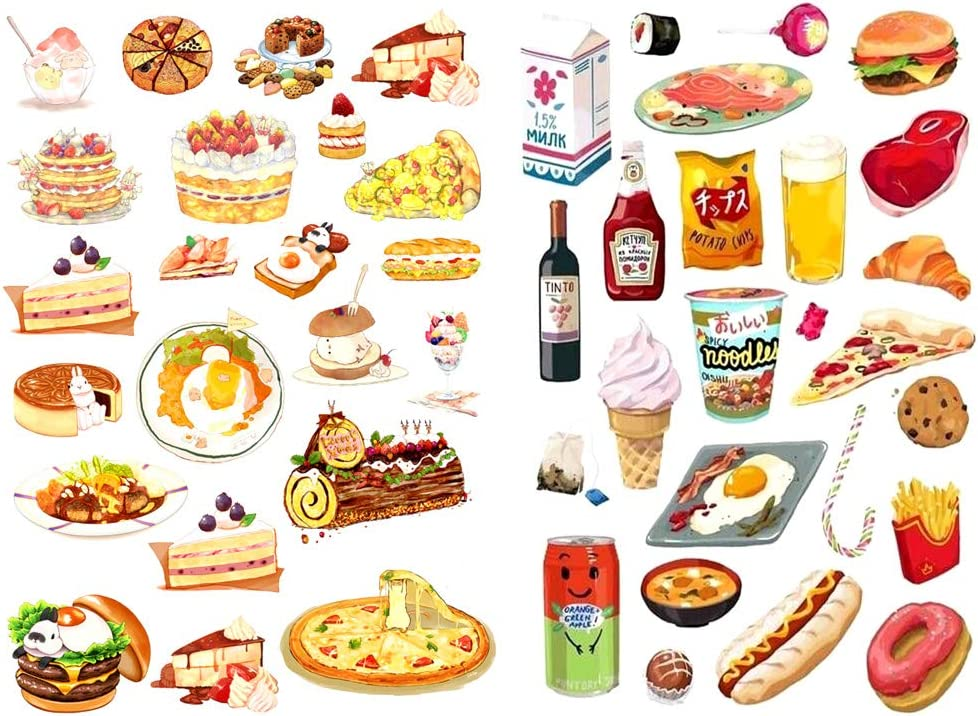 Seasonstorm Cute Japanese Food Cake Snacks Aesthetic Diary Travel Journal Paper Stickers Scrapbooking Stationery Sticker