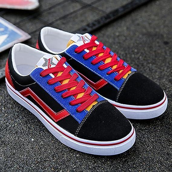 YaNanHome Zapatos para Hombre/Alpargatas Zapatos de Lona de los Hombres Verano Zapatos de la Tabla de Estilo Coreano Zapatos de Moda Juvenil (Color : Blanco ...