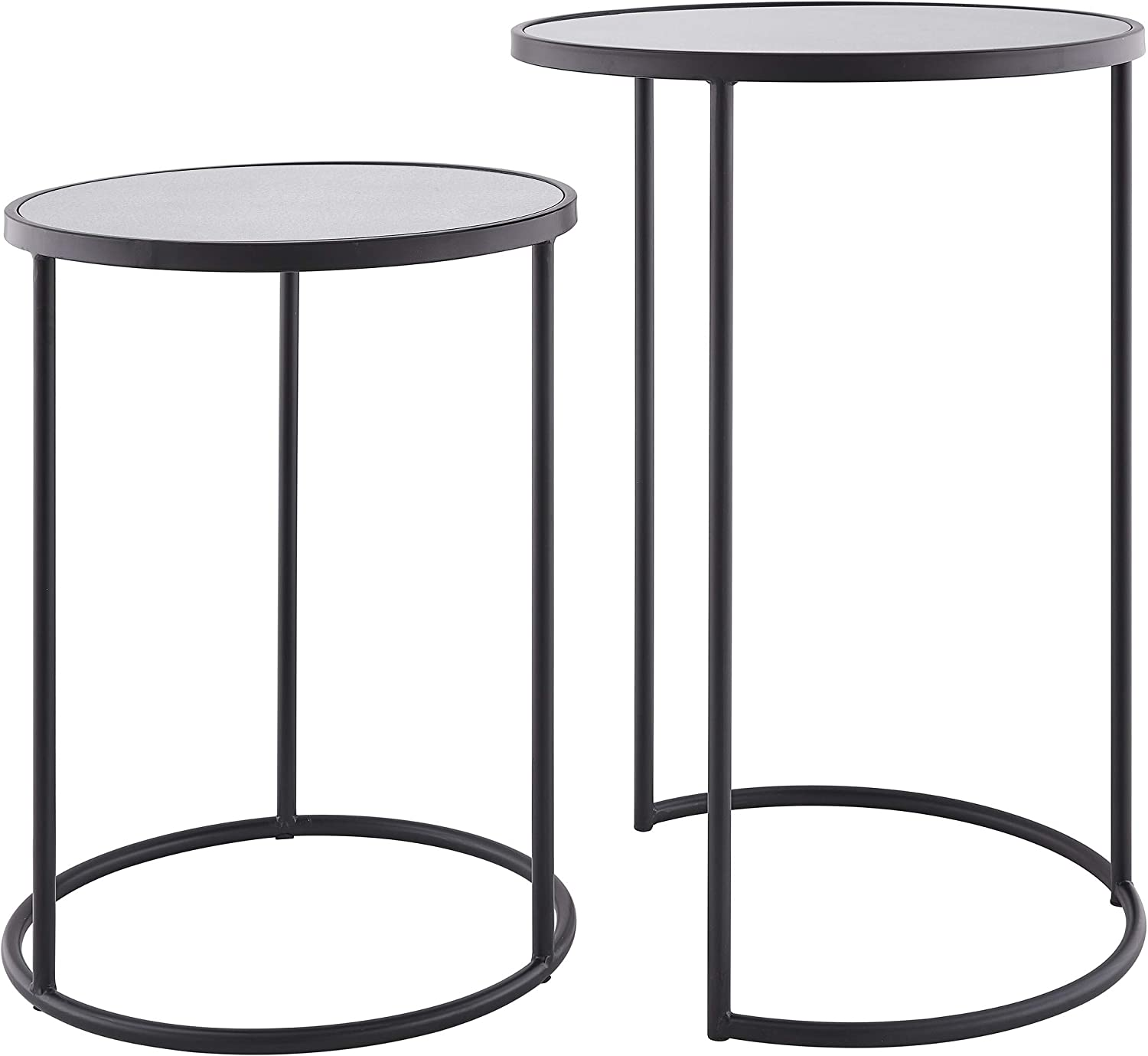 Holly /& Martin Alcovy Black Metal Nesting Accent Tables 2pc Set