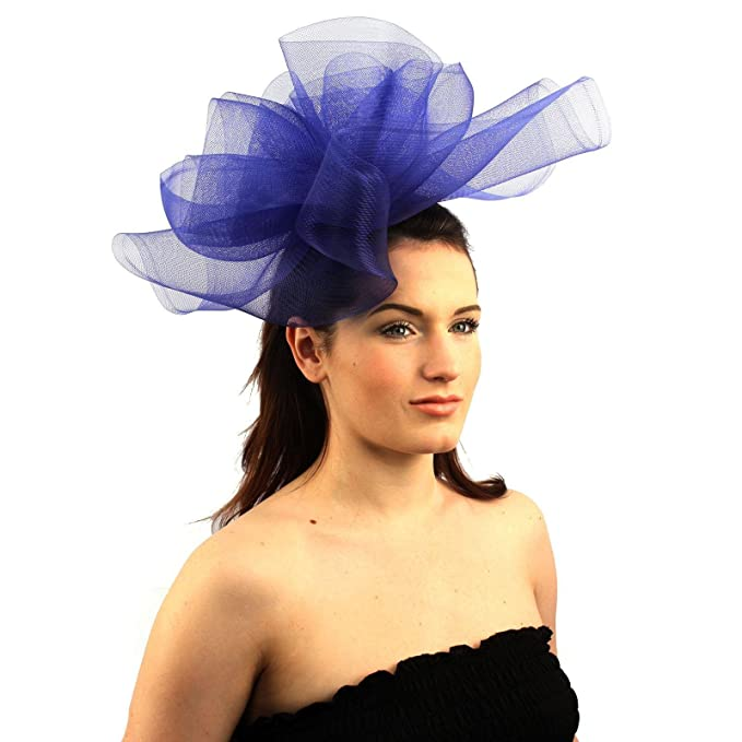 Fancy Kentucky Derby Tulle Headband Comb Fascinator millinery Cocktail Hat  Blue at Amazon Women s Clothing store  96a498b1e07