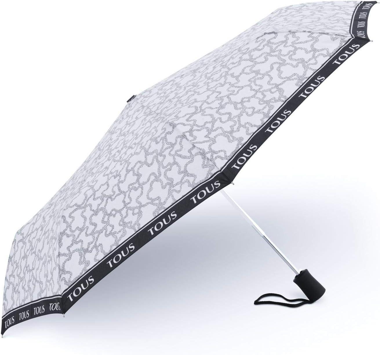Paraguas plegable Kaos New en color arena-negro: Amazon.es: Equipaje