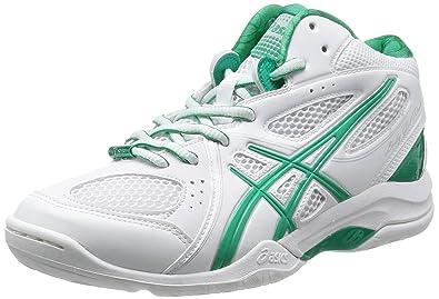 2e6e13fece89f Amazon.com | Asics Men's Gelflash 5 White/ Emerald Artificial ...