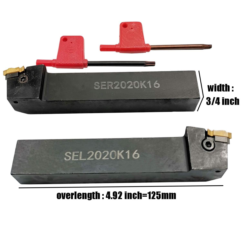 1Pcs SER2020K16 20x125mm Lathe Turning Tool Holder For 16ER//IR carbide insert
