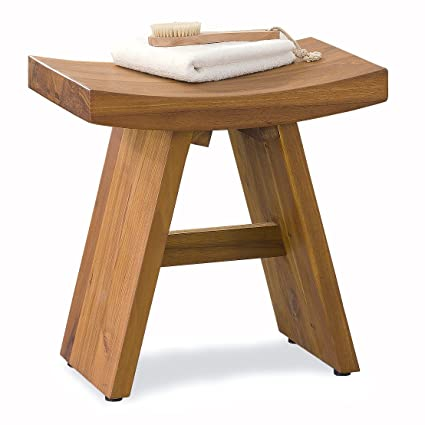 Amazon.com: The Original Asia Classic Floor Sample Teak Shower Stool ...