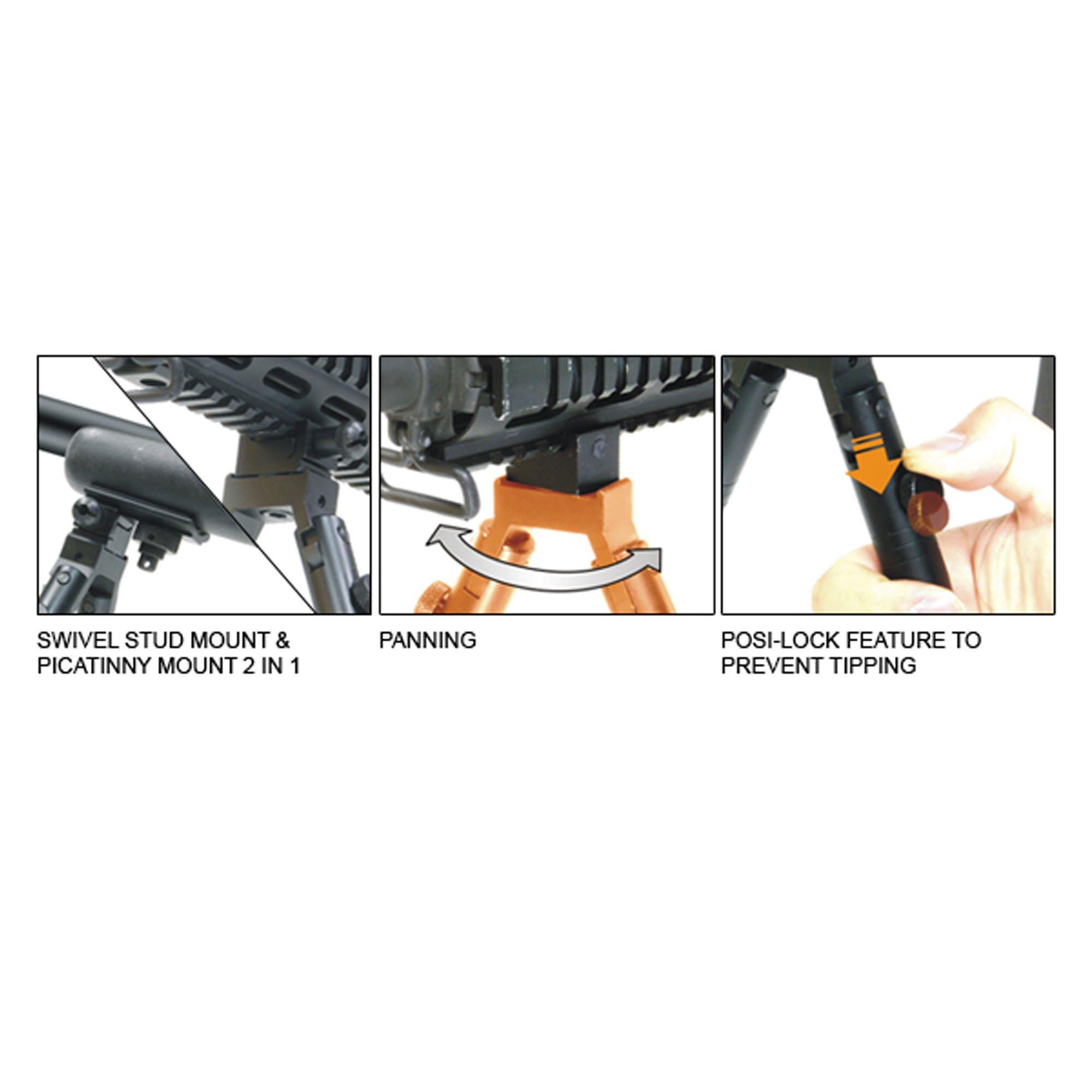 UTG Low-Profile Deluxe Universal Picatinny & Swivel-Stud Bipod by UTG (Image #6)
