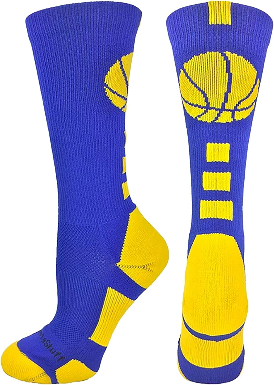 Madsportsstuff Basketball Socks mit Basketball Logo Athletic Crew Socks - gemacht bei die Usa