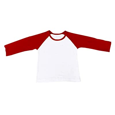 46f32082b CloudCreator Unisex Toddler Raglan Long Sleeve Cotton Shirt Jersey T-Shirt  Tees For Kids Baby Girl Boy