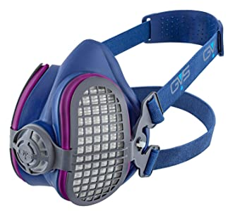 GVS SPR451 Elipse P100 Dust Half Mask Respirator with replaceable and reusable filters included, Blue