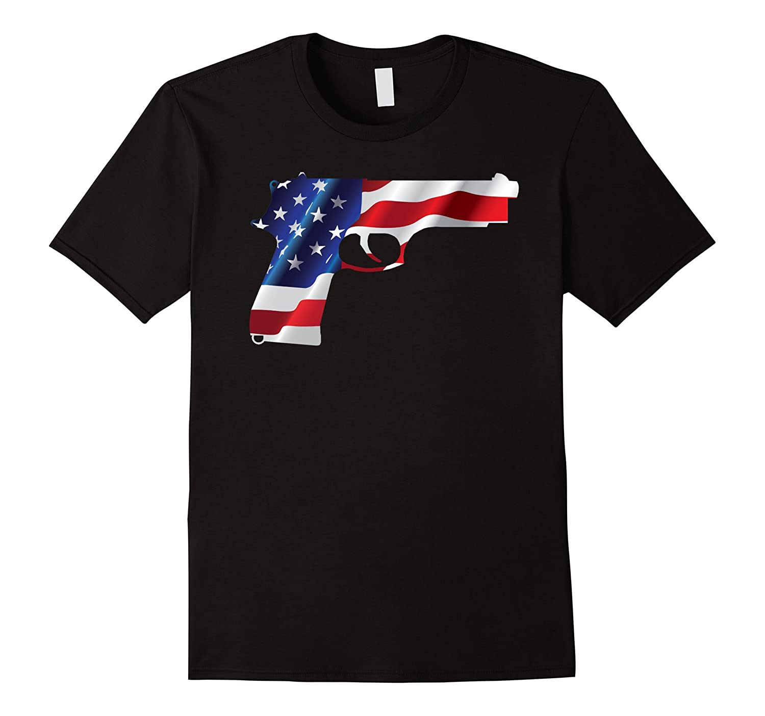 2nd Amendmant American Flag Hang Gun 4th Of July T Shirt-PL