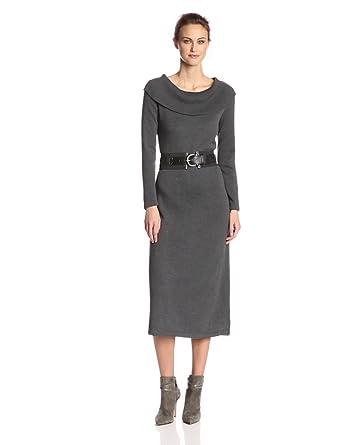 Danny & Nicole Women's Cowl-Neck Sweater Dress at Amazon Women's ...