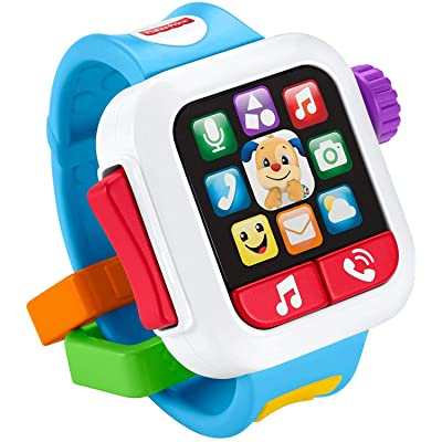 Fisher-Price Laugh & Learn Time to Learn Smartwatch, Musical Baby Toy, Blue: Toys & Games