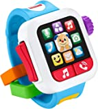 Fisher-Price Laugh & Learn Time to Learn Smartwatch, Musical Baby Toy, Blue
