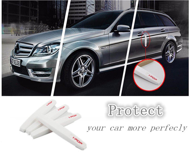 4Pcs Protezioni del paraurti della protezione dellanta della parte anteriore dellautomobile Anti-Collisione antigraffio Anti-striscia delle strisce decorative