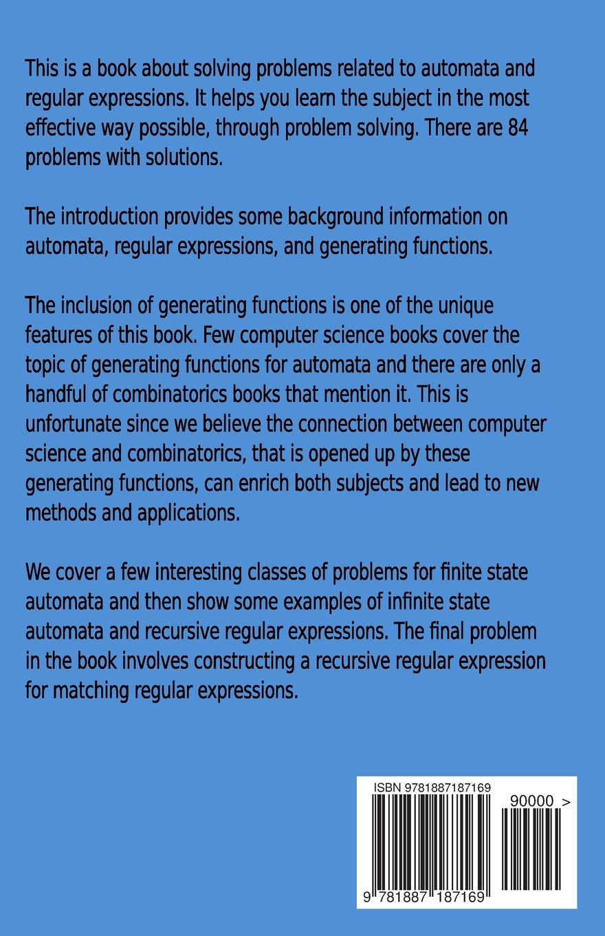finite automata and regular expressions problems and solutions