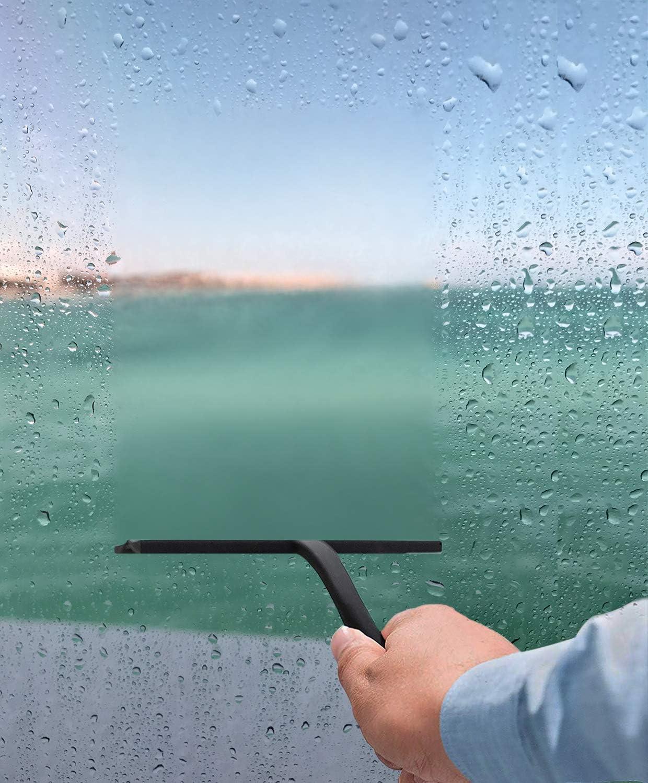 Fensterabzieher Glas Und Fliesen schwarz, gro/ß Allzweck-Duschkabinenabzieher IARTISTE Duschabzieher Silikon 28 cm Spiegel Duschabzieher Mit Saugnapf