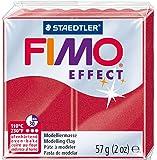 Staedtler - Fimo Effect - Pain Pâte à Modeler 57 g Effet Métallique Rouge Rubis