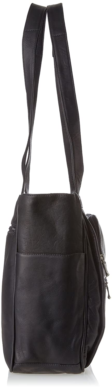 One Size 147B David King /& Co Black Womens Multi Pocket Briefcase Plus