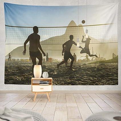 Amazon Com Kutita Tapestry Wall Hanging Silhouettes Playing Sunset