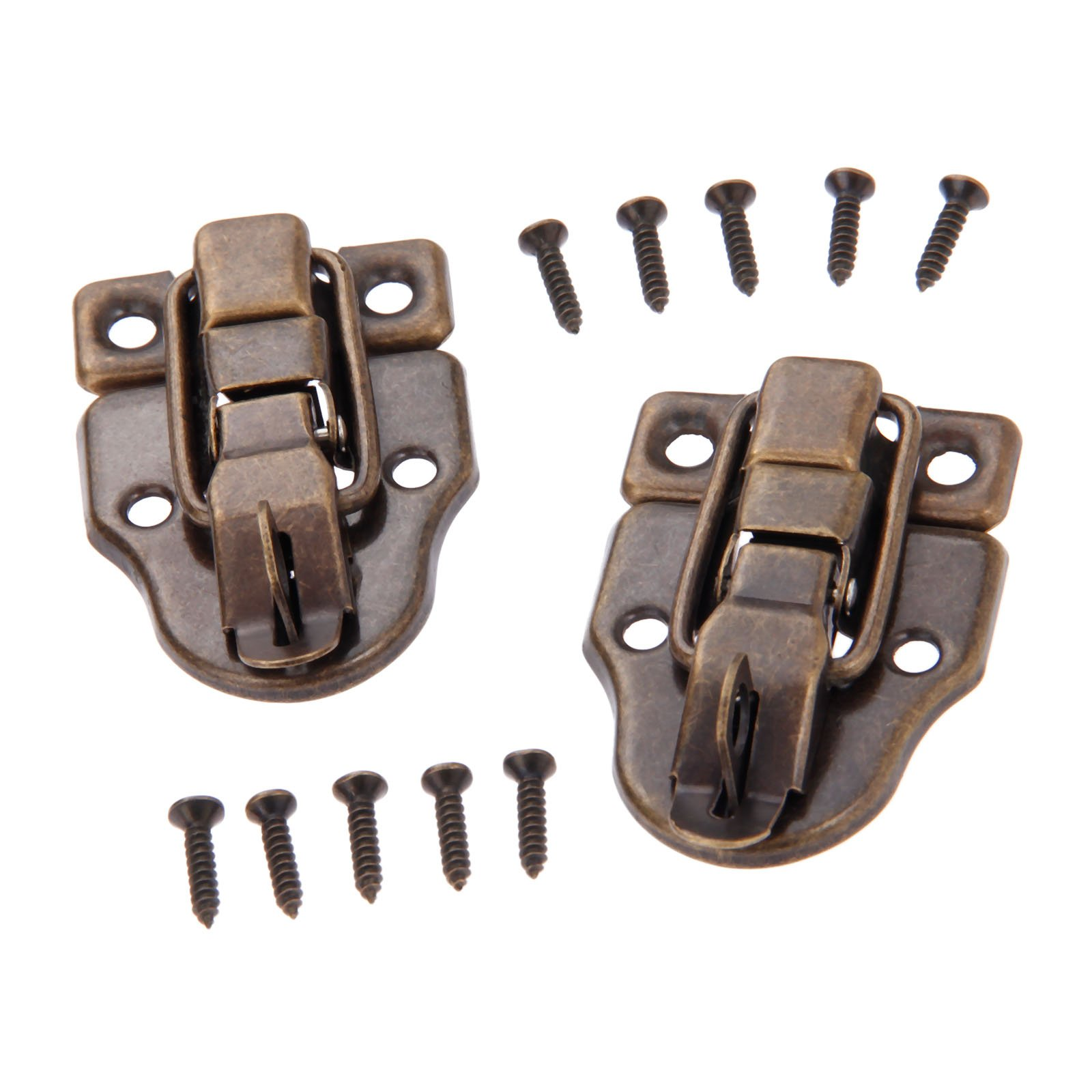 Dophee 10Pcs 2.32''x1.57'' Antique Bronze Retro Style Iron Toggle Fit Case Box Chest Trunk Latch Hasps by dophee