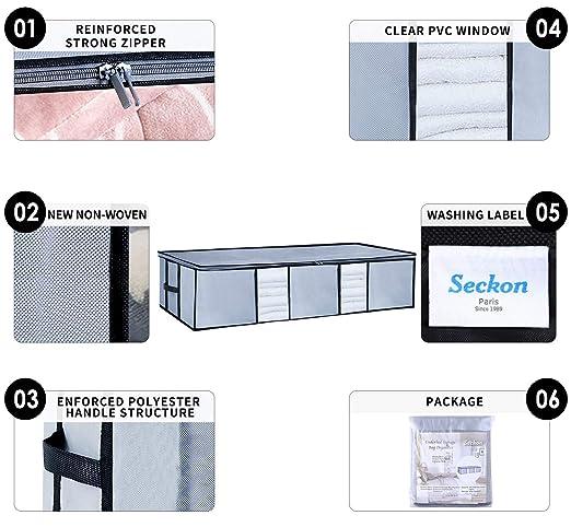 Amazon.com: Seckon Underbed Storage Bags Container ...
