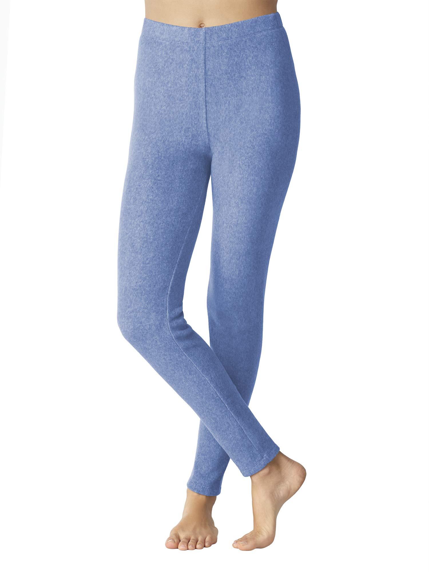 Cuddl Duds ClimateRight Women's Stretch Fleece Warm Underwear Leggings (3XL - Cloud Blue) by Cuddl Duds