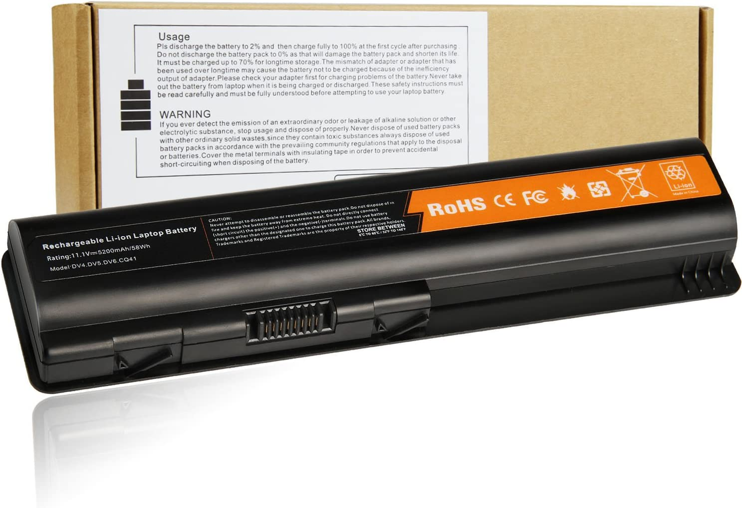 Fancy Buying New Replacement Battery for HP 6-Cell Primary (EV06) KS524AA 511872-001 484170-002 484170001 485041-001 462889-141 462890-542 LaptopG70 G71 CQ50 CQ60 CQ61 CQ71 Series (Better Battery)