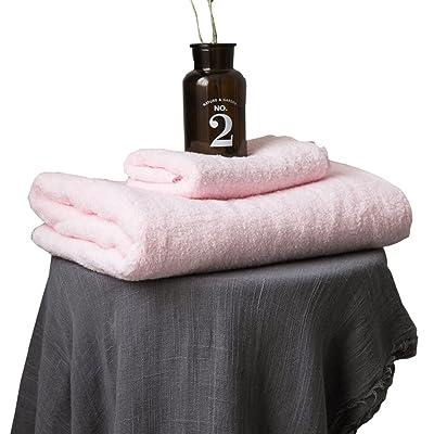 Dfb High Density Spiral Tissage En Coton Serviette De Bain Combinaison Serviette Adulte Enfants Couple Solid Color Large Towel Soft,Powder