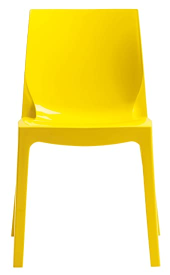 Plastik Stuhl Im Modernen Design, Farbe: Gelb