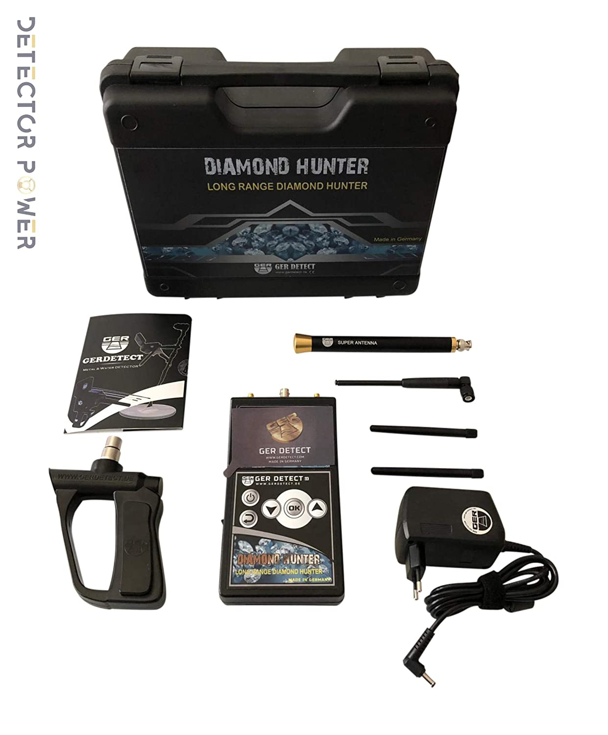 Amazon.com: GER DETECT Detector de diamante cazador de largo ...