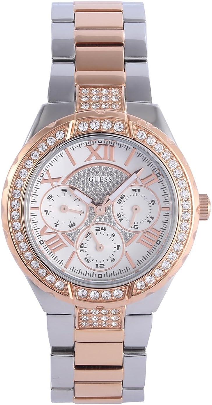 Guess W0111L4 - Reloj de Pulsera para Mujer, Color Blanco/Plata
