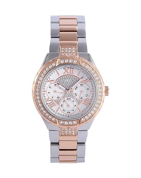 Guess W0111L4 - Reloj de pulsera para mujer, color blanco/plata: Amazon.es: Relojes