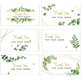 180 Pieces Thank You for Your Order Card Support Small Business Customer Thank You Cards Gold Foil and Green Appreciation Not