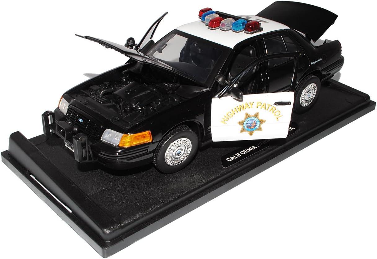 Ford Crown California Highway Patrol Police Polizei 2001 1 18 Motormax Modellauto Modell Auto Spielzeug