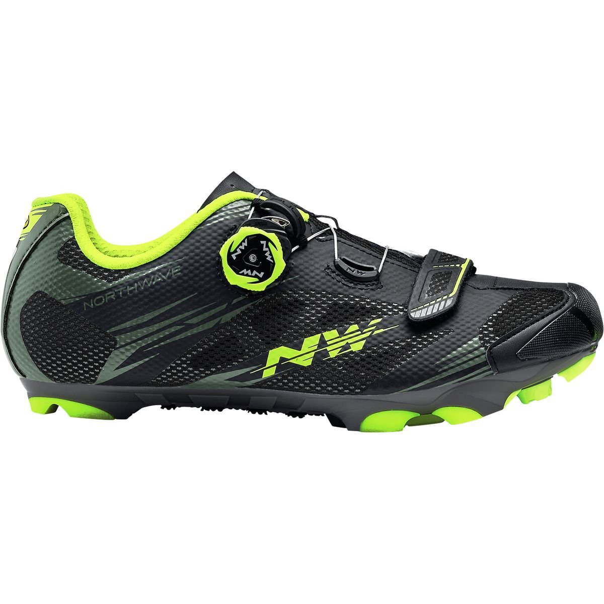 ノースウェーブScorpius 2 Plus Cycling Shoe – Men 's 40 Black Military/Yellow Fluo B07BRG7MGZ