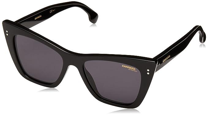 e451b84c484c Amazon.com: Carrera Women's 1009/s Cateye Sunglasses BLACK 52 mm ...