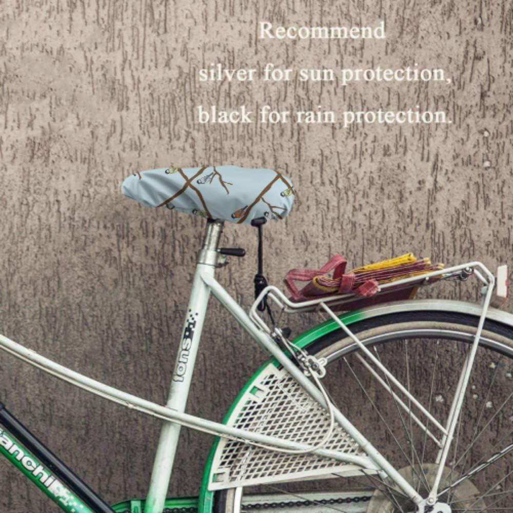 resistente alla pioggia e alla polvere per la maggior parte delle selle da bici Coprisella Impermeabile Uccelli Mens Coprisedili per bici Protezione per seggiolino per bambini con coulisse