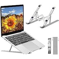 ANNA TOSANI Soporte Portátil Plegable, 7 Ángulos Ajustables, Aluminio Atril Soporte para Computadora Netbooks de…