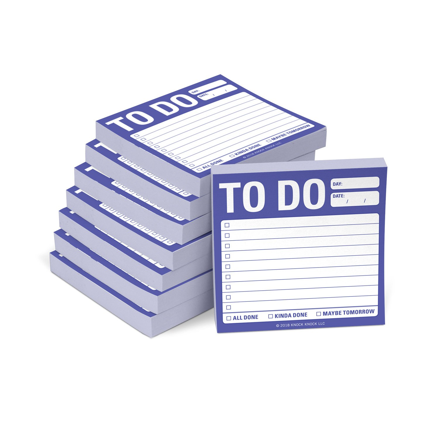 8-Pack to Do Sticky Notes, to Do List Sticky Notes, 3 x 3-inches Each by Knock Knock
