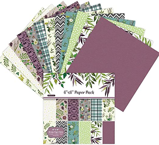MODGS 24 Hojas Scrapbook Paper Pad Floral Scrapbooking Exquisita Cartulina Paper Pad Vintage Stamped Paper DIY Papel Decorativo Manualidades Para Scrapbooking Y Craft worth buying: Amazon.es: Hogar